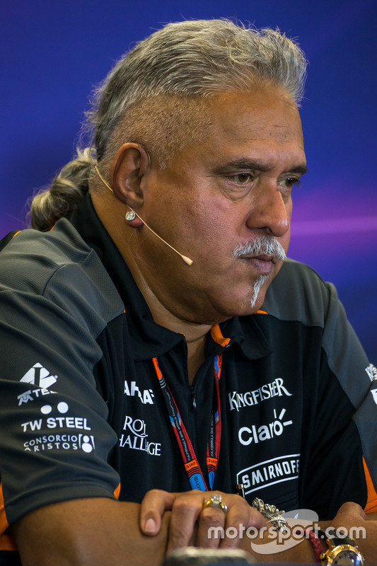 Dr. Vijay Mallya, Sahara Force India F1 Teambaas in de FIA persconferentie