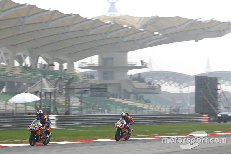 Miguel Oliveira, Red Bull KTM Ajo et Brad Binder, Red Bull KTM Ajo