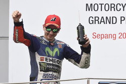 Podio: il secondo classificato Jorge Lorenzo, Yamaha Factory Racing