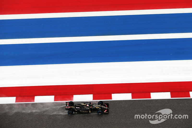 Romain Grosjean, Lotus F1 E23 in the qualifying session