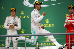 Podium: 1. Lewis Hamilton, Mercedes AMG F1; 2. Nico Rosberg, Mercedes AMG F1 W06; 3. Sebastian Vettel, Ferrari