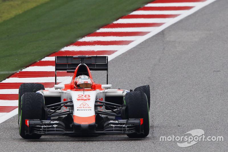 Will Stevens, Manor Marussia F1 Team avec une crevaison