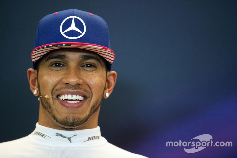 Race winner and World Champion Lewis Hamilton, Mercedes AMG F1 in the FIA Press Conference