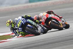 Valentino Rossi, Yamaha Factory Racing en Marc Marquez, Repsol Honda Team