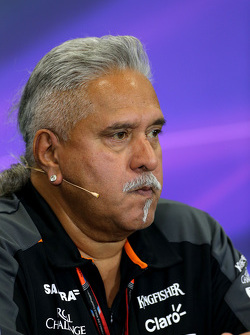 Vijay Mallya, dueño del Sahara Force India
