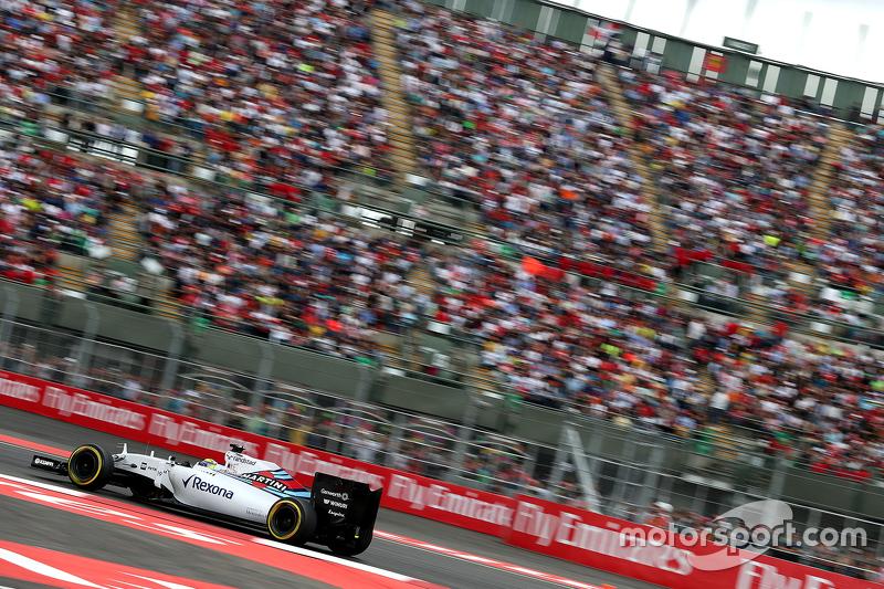 Felipe Massa fica apenas em 6º no México