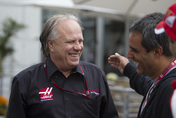 Gene Haas, President of Haas Automotion and Juan Pablo Montoya