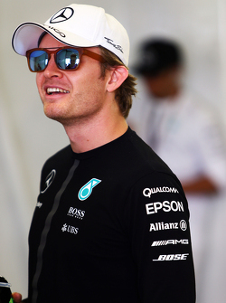 Nico Rosberg, Mercedes AMG F1 on the drivers parade.