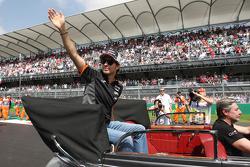 Sergio Perez, Sahara Force India F1 op de rijdersparade