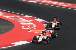 Will Stevens, Manor Marussia F1 Team leads team mate Alexander Rossi, Manor Marussia F1 Team