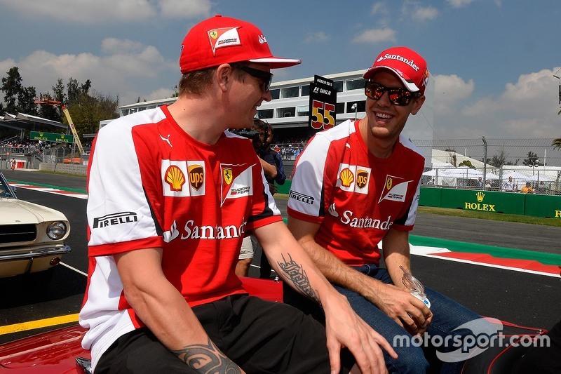 Kimi Raikkonen, Ferrari y Sebastian Vettel, Ferrari