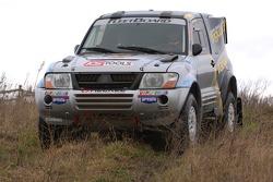Team Fleetboard Dakar Leipzig presentation: Ellen Lohr and Antonia De Roissard with their Mitsubishi Pajero