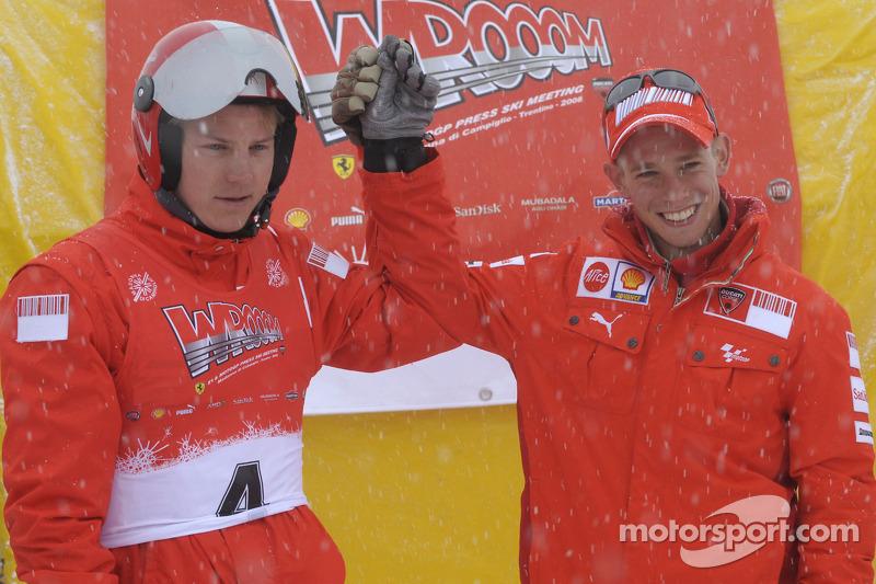 Kimi Raikkonen and Casey Stoner