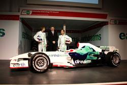 Jenson Button, Honda Racing F1 Team, Ross Brawn Team Principal, Honda Racing F1 Team, Rubens Barrichello, Honda Racing F1 Team