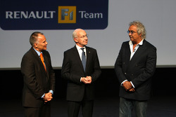 Bernard Rey Renault F1 Team President, Flavio Briatore, Renault F1 Team, Team Chief, Managing Director