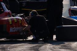 Newman Haas Lanigan Racing team member at work