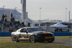 Spin for #50 Blackforest Motorsports Ford Mustang: James Bradley, John Cloud, John Farano, Carl Jensen, Boris Said