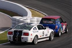 #198 RSR Motorsports Mini Cooper S: Randy Smalley, Owen Trinkler, #5 Blackforest Motorsports Ford Mustang GT: David Empringham, Tom Nastasi