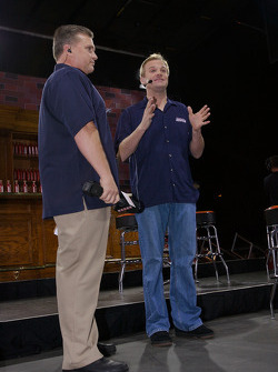 Kenny Wallace appears on stage
