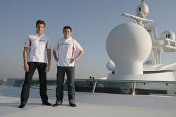 Adrian Sutil and Giancarlo Fisichella