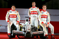 Giancarlo Fisichella, Adrian Sutil et Vitantonio Liuzzi