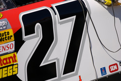 Detail of the #27 Toyota of Jacques Villeneuve