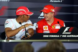 Lewis Hamilton, McLaren Mercedes, Kimi Raikkonen, Scuderia Ferrari, Fernando Alonso, Renault F1 Team
