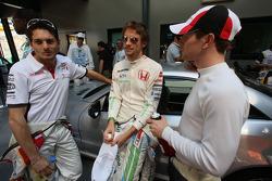 Giancarlo Fisichella, Force India F1 Team, Jenson Button, Honda Racing F1 Team, Anthony Davidson, Super Aguri F1 Team / Drivers group picture 2008