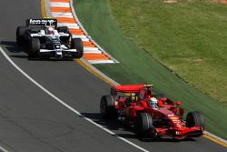 Felipe Massa, Scuderia Ferrari, Kazuki Nakajima, Williams F1 Team