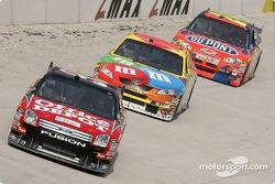 Carl Edwards, Kyle Busch and Jeff Gordon
