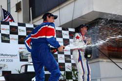 Oliver Jarvis, driver of A1 Team Great Britain and Jonathan Summerton, driver of A1 Team USA