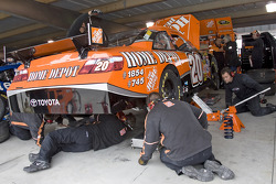 The Home Depot crew makes adjustments to the Toyota