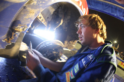 Mikko Hirvonen's Ford Focus RS WRC under scrutiny by highly skilled M-Sport technician