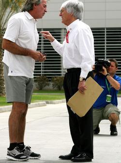 Jacques Laffite and Bernie Ecclestone