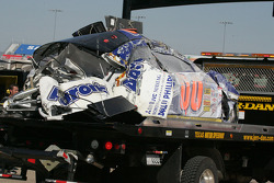 Damaged car of Michael McDowell
