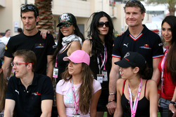 Mark Webber, Red Bull Racing, David Coulthard, Red Bull Racing and Sébastien Bourdais, Scuderia Toro Rosso with Formula Una's