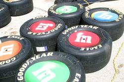 Big M&M's cover Kyle Busch's tires