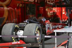 Brandon Bernstein's top fuel dragster awaiting wing assembley