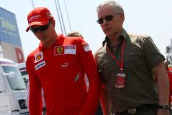 Kimi Raikkonen, Scuderia Ferrari ve David Robertson, Manager, Kimi Raikkonen