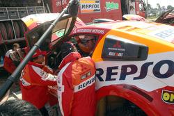 Team Repsol Mitsubishi Ralliart service area