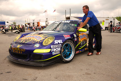 The #67 TRG Porsche GT3 Cup enroute to technical inspection