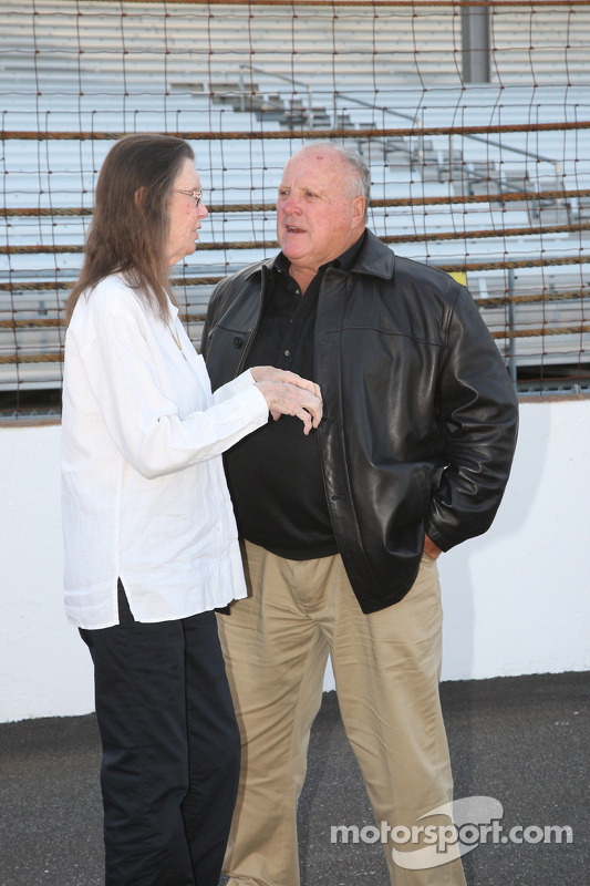 Mari Hulman George and A.J. Foyt