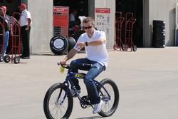 Ed Carpenter riding his bike