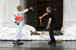 Lewis Hamilton, McLaren Mercedes, Lewis takes part in a special performance of Troy