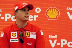 Kimi Raikkonen, Scuderia Ferrari, Shell Press Conference