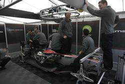 Dams mechanics prepare the cars