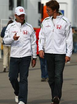 Rubens Barrichello, Honda Racing F1 Team and Jenson Button, Honda Racing F1 Team