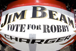 The Jim Beam Dodge in the garage