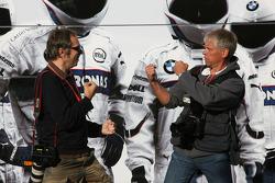 Photographers, Mark Thompson and Daniel Reinhard punch up