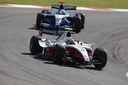 Romain Grosjean leads Andreas Zuber